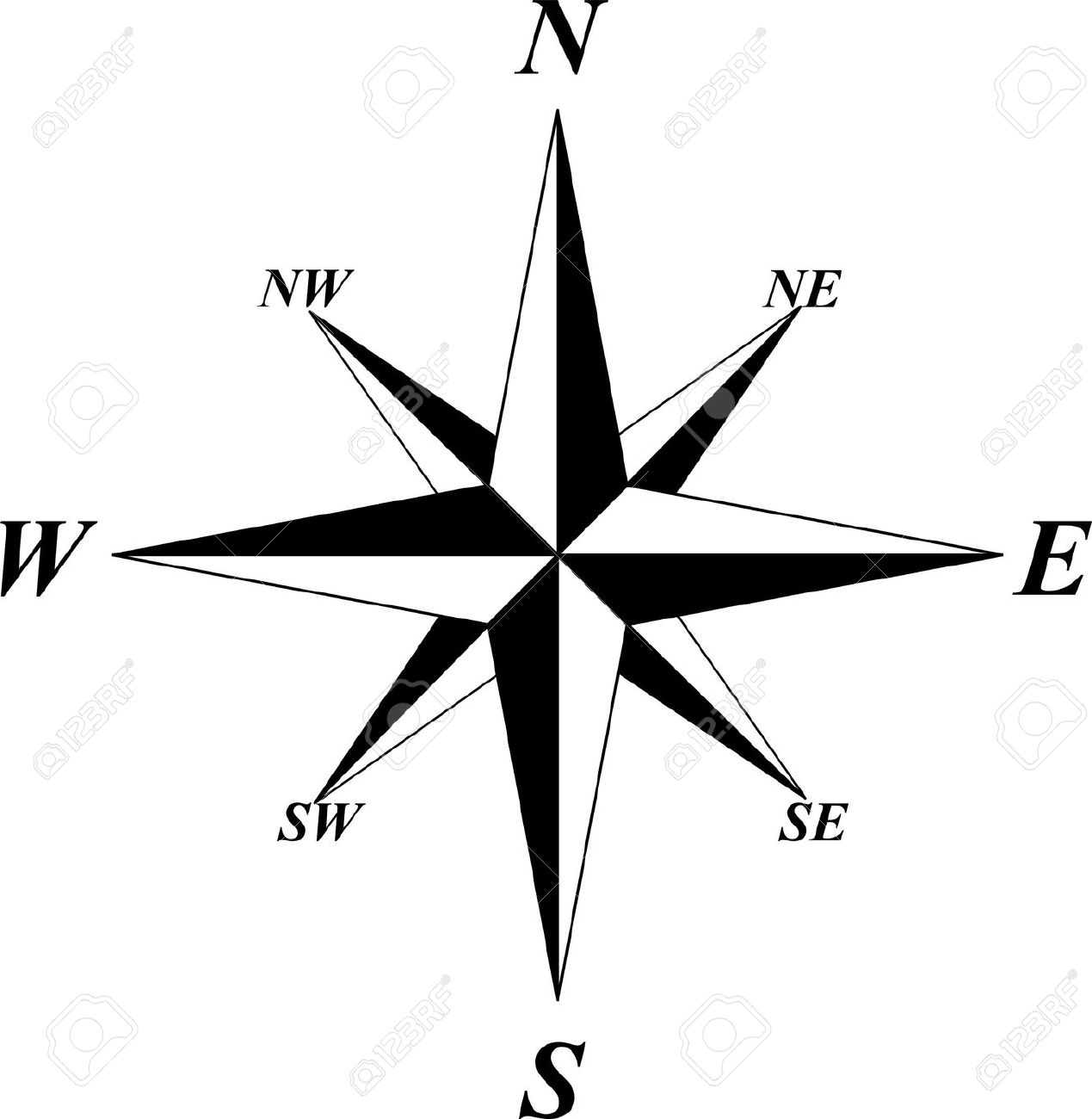 Wind Rose Royalty Free Cliparts, Vectors, And Stock Illustration.