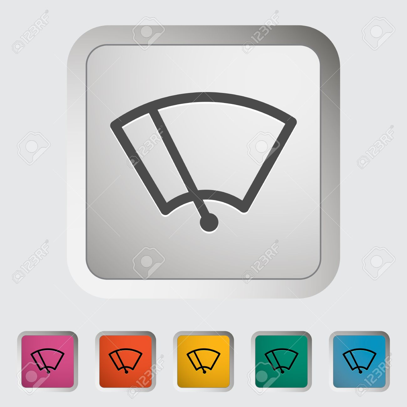 Car Icon Wiper. Vector Illustration. Royalty Free Cliparts.