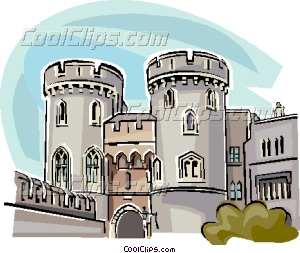 United Kingdom Windsor Castle Vector Clip art.