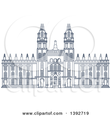 Windsor castle illustration clip art.