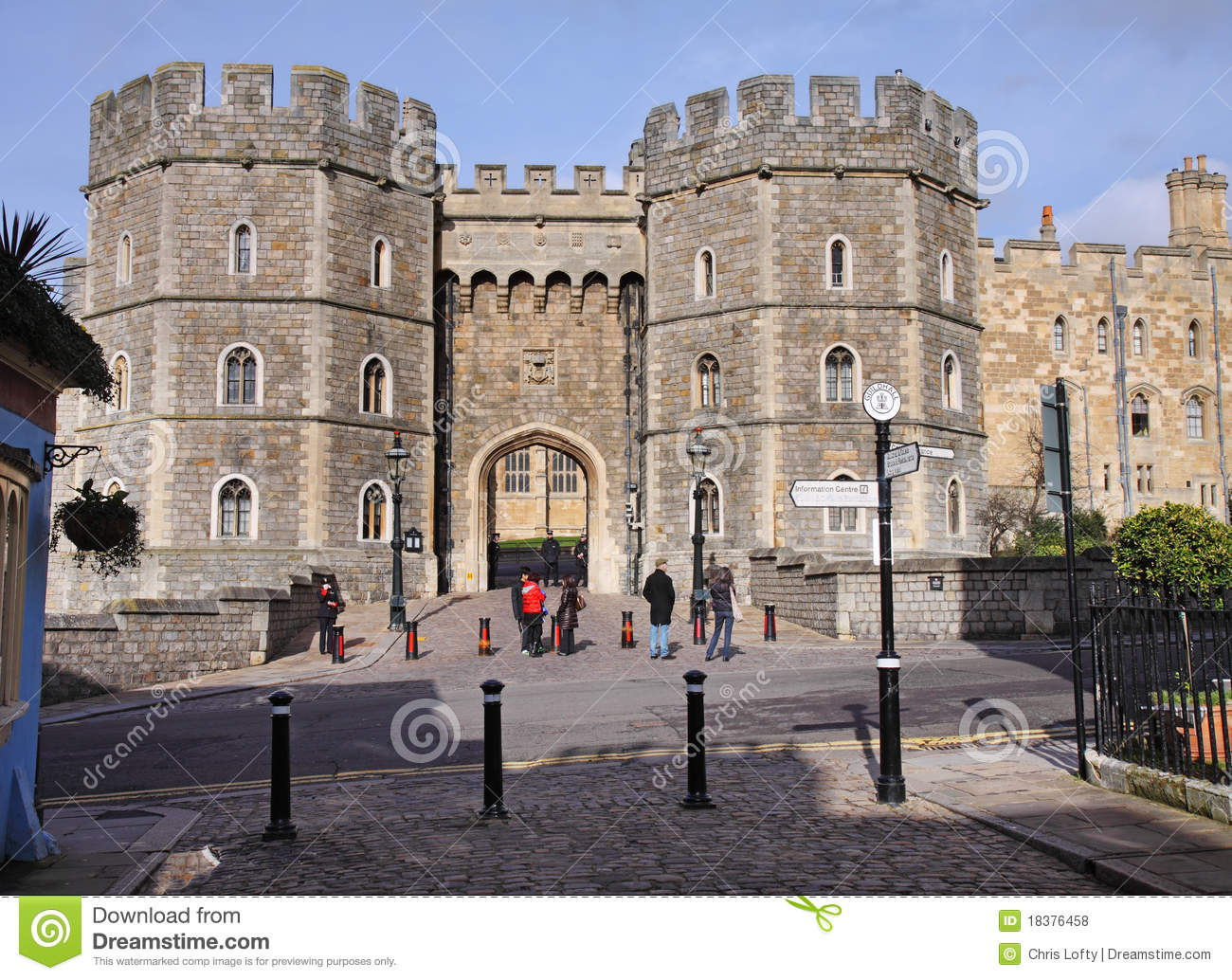 Entrance To Windsor Castle In England Editorial Stock Photo.