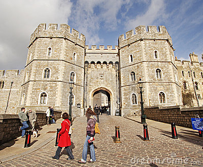 Entrance To Windsor Castle In England Editorial Photo.
