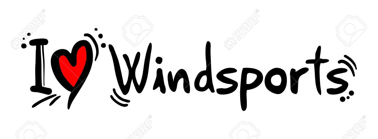 Windsport Love Royalty Free Cliparts, Vectors, And Stock.