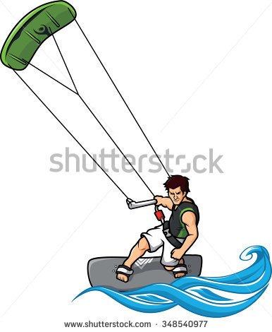 Kitesurfing Clipart.