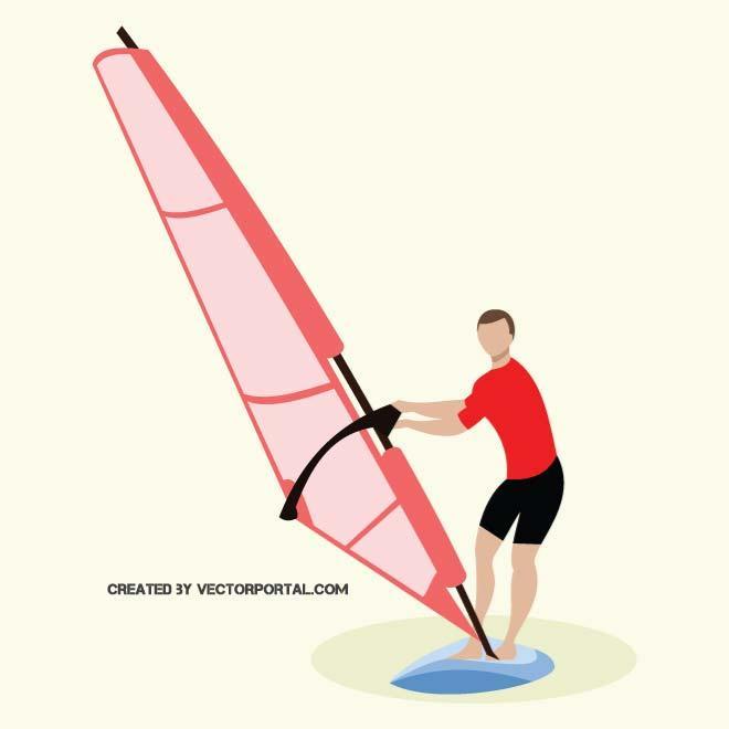 WINDSURFER CLIP ART.