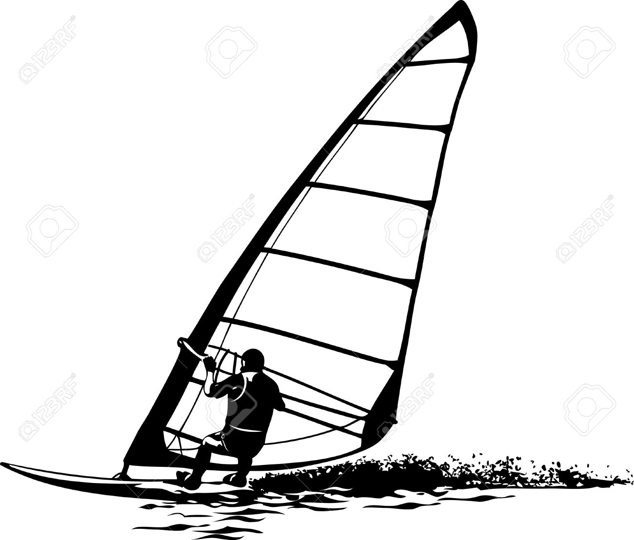 Windsurfing drawing
