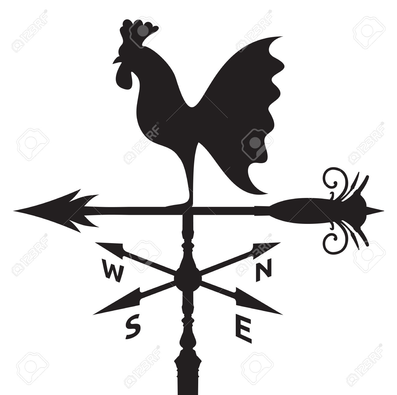 Weather vane clipart.
