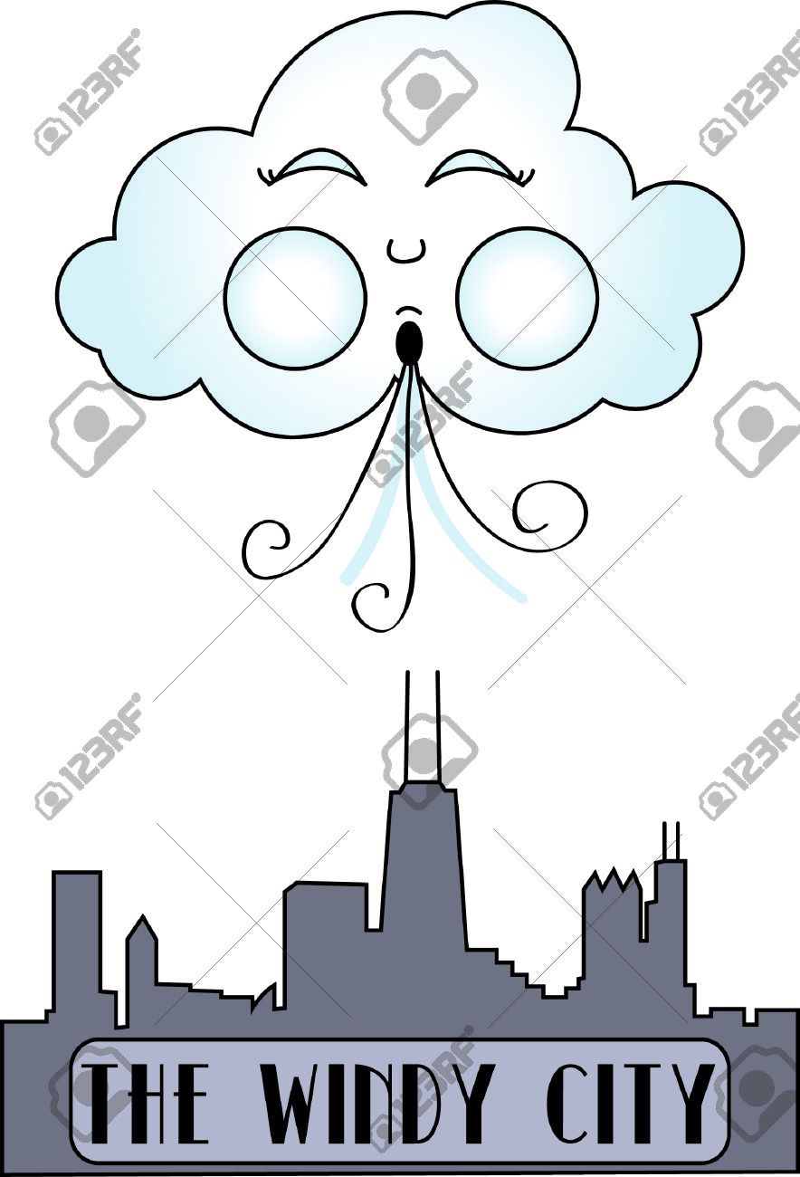 Chicago, The Windy City Displayed In Stitches. This Graphic.