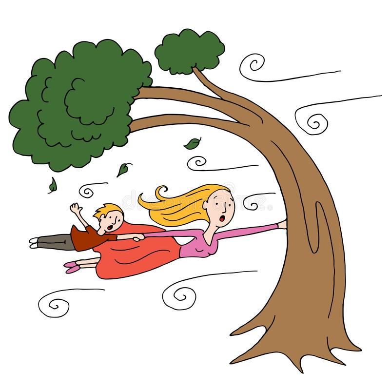 Windy Tree Stock Illustrations.