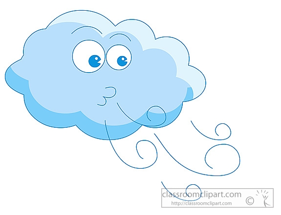 Windy cloud clipart.