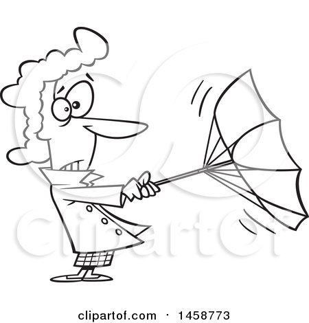 Windy Weather Clipart Black And White.