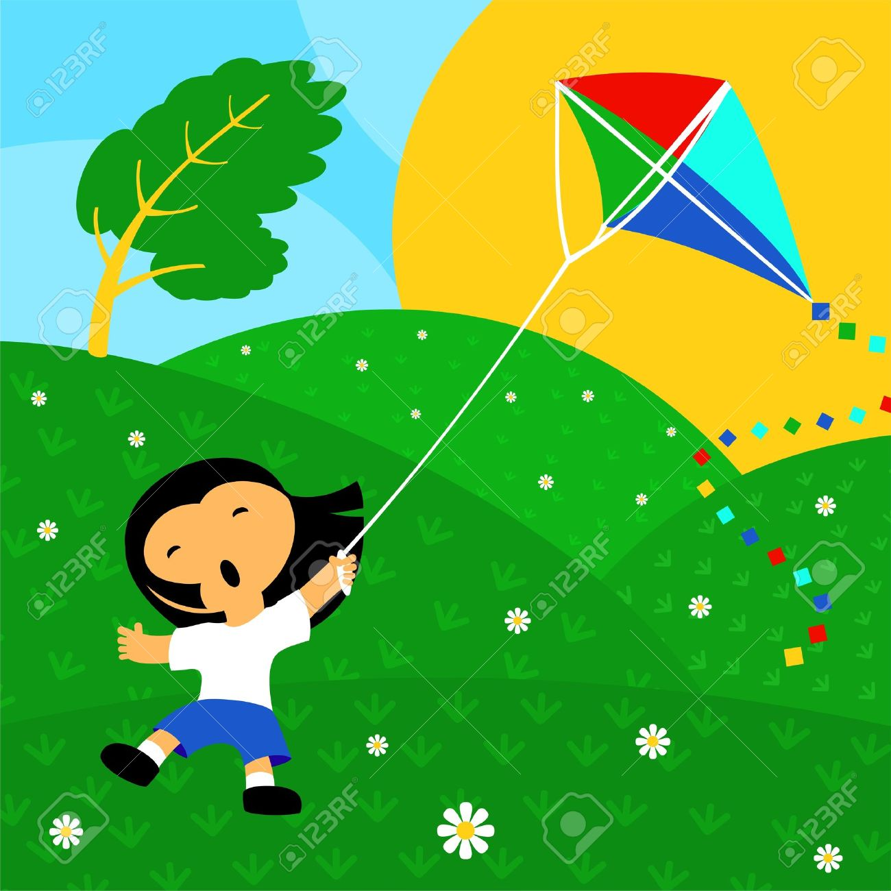 814 Windy free clipart.