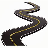 Curved Road Clip Art, Vector Curved Road.