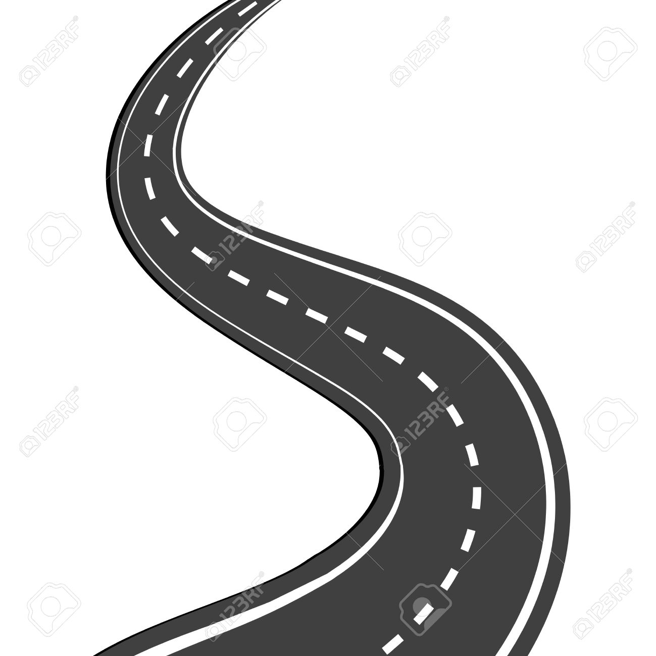 Highway clipart long road, Highway long road Transparent.