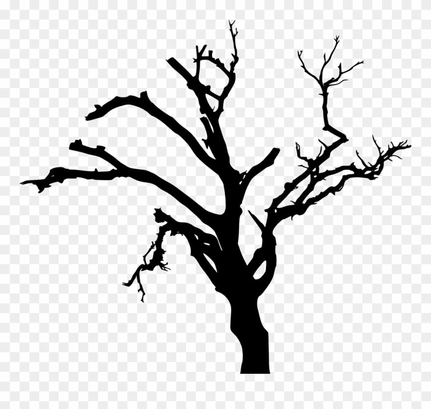 Spooky Dead Tree Silhouette Transparent Vol Png Transparent.
