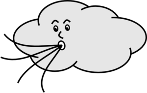 Windy Weather Clipart.