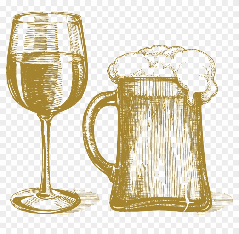 Beer And Wine Clipart.