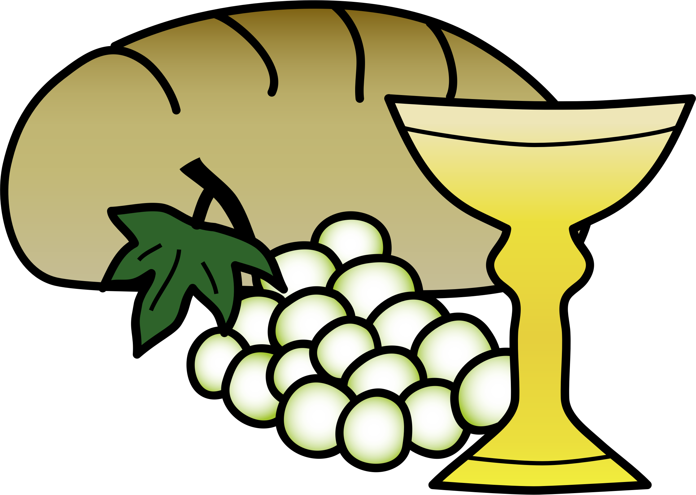 Bread and wine clipart 2 » Clipart Station.