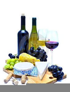 Free Clipart Of Wine And Cheese.