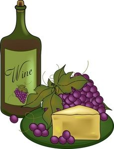 clip art wine bottles and grapes.
