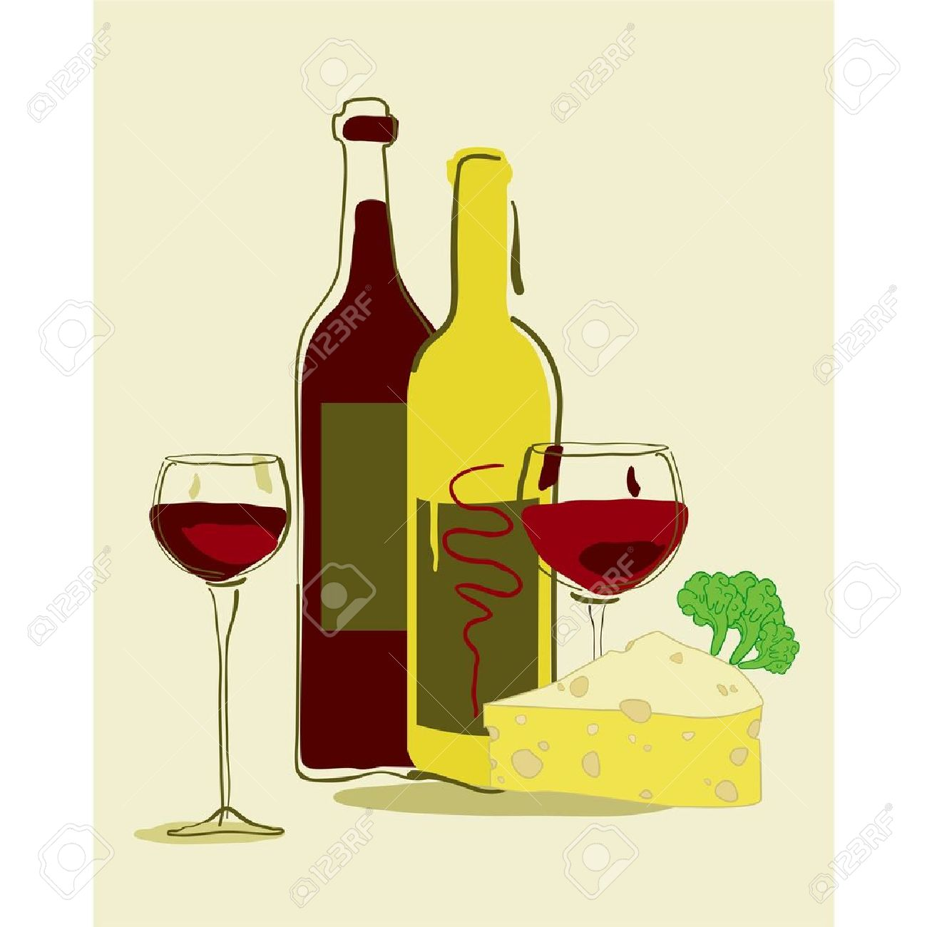 15+ Wine And Cheese Clipart.