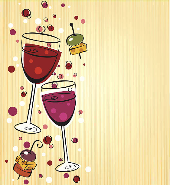 Best Wine And Cheese Party Illustrations, Royalty.