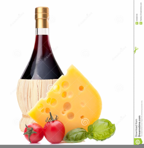 Wine Cheese Clipart.