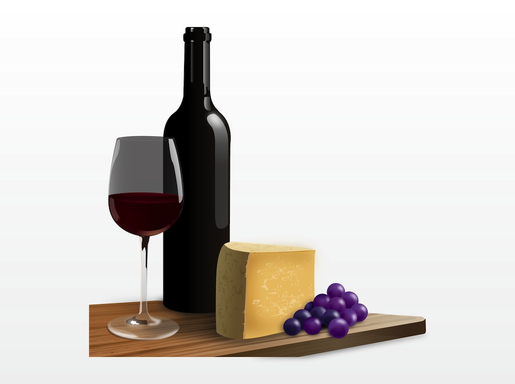 24+ Wine And Cheese Clip Art.