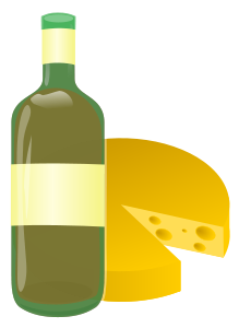 wine and cheese by @ryan lerch, a simple combination of 2.