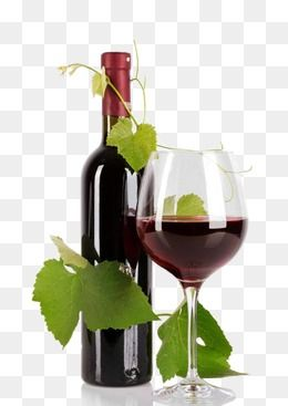 Red Wine, Wine Clipart, Grape Leaves PNG Transparent Clipart.