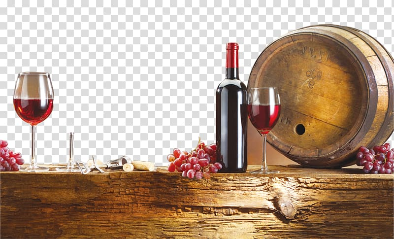 Red Wine Champagne Oak, Wine making transparent background PNG.