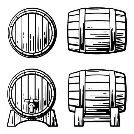 9,113 Wine Barrel Stock Vector Illustration And Royalty Free Wine.