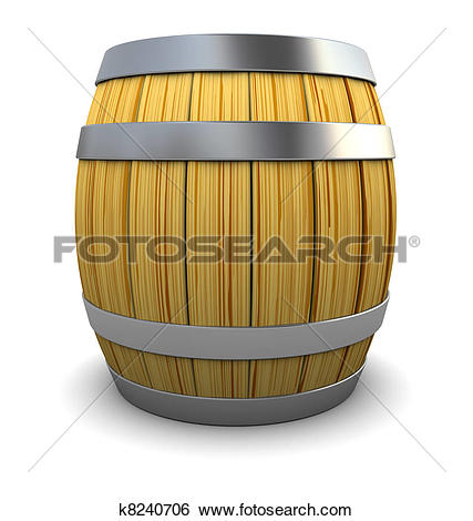 Stock Illustration of wine barrel k8240706.