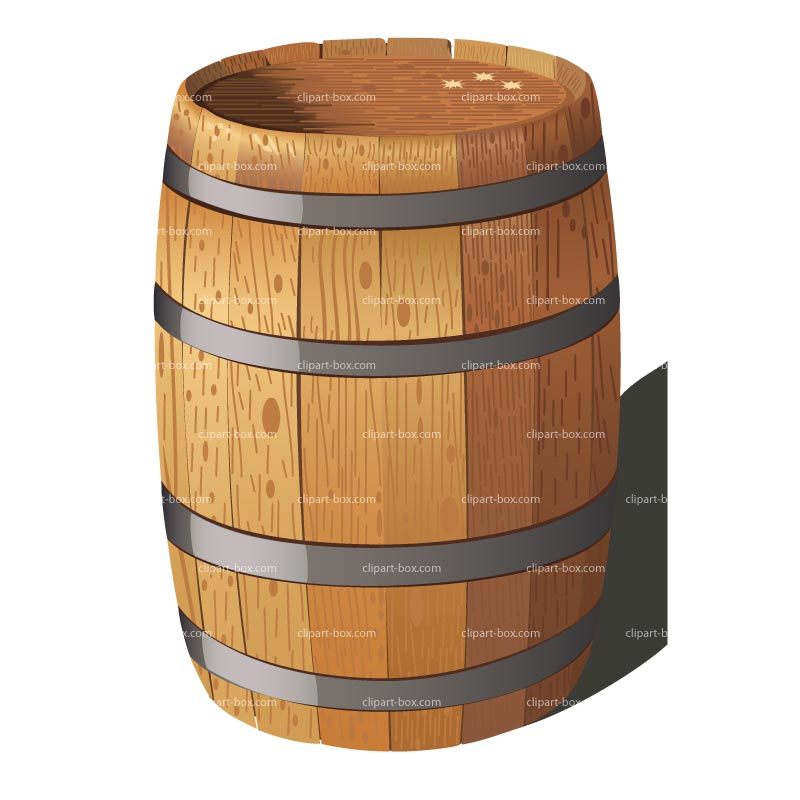 Wine Keg With A Santa Clipart.