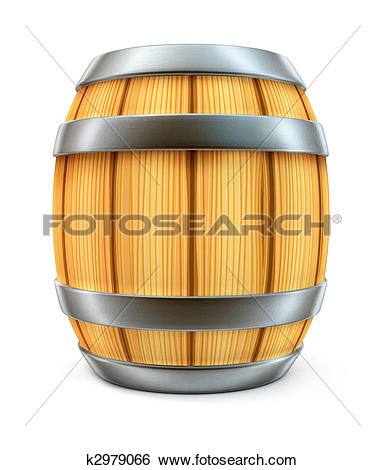Clipart of Wine barrel k7924372.