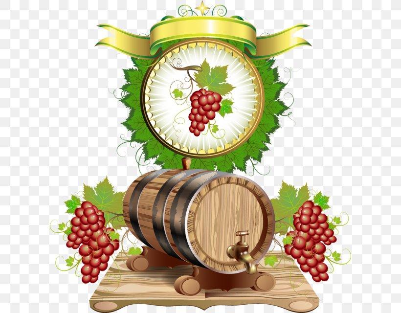 Common Grape Vine Wine Barrel Clip Art, PNG, 616x640px.