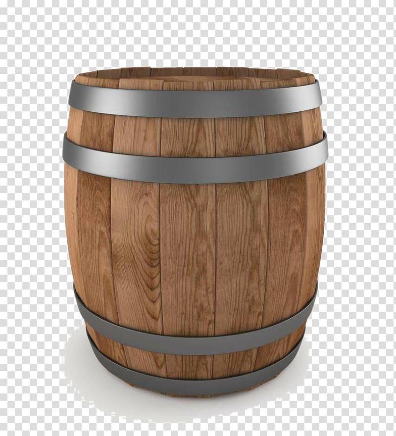 Brown wooden barrel, Whisky Wine Beer Barrel Illustration.
