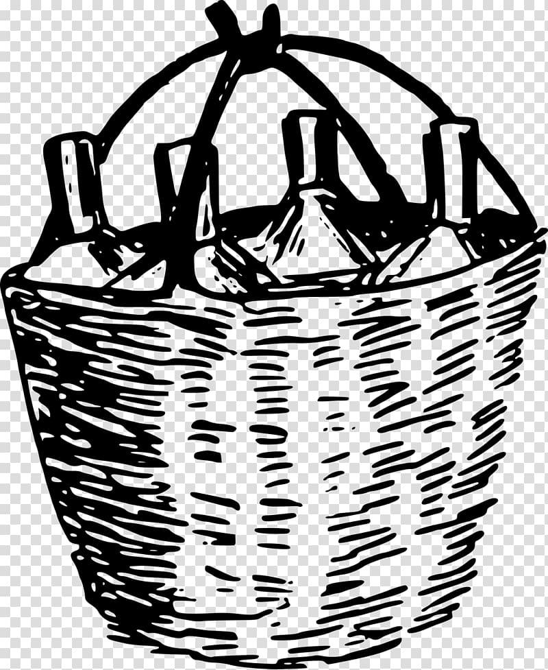 Basket Wine , Basket transparent background PNG clipart.
