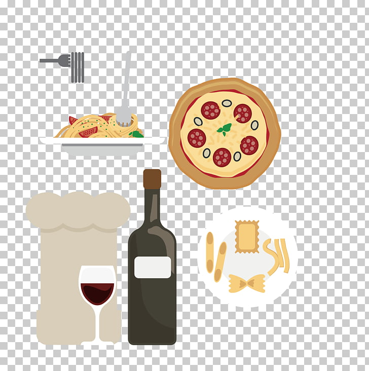 Red Wine Beer Port wine Pizza, Western Wine material PNG.