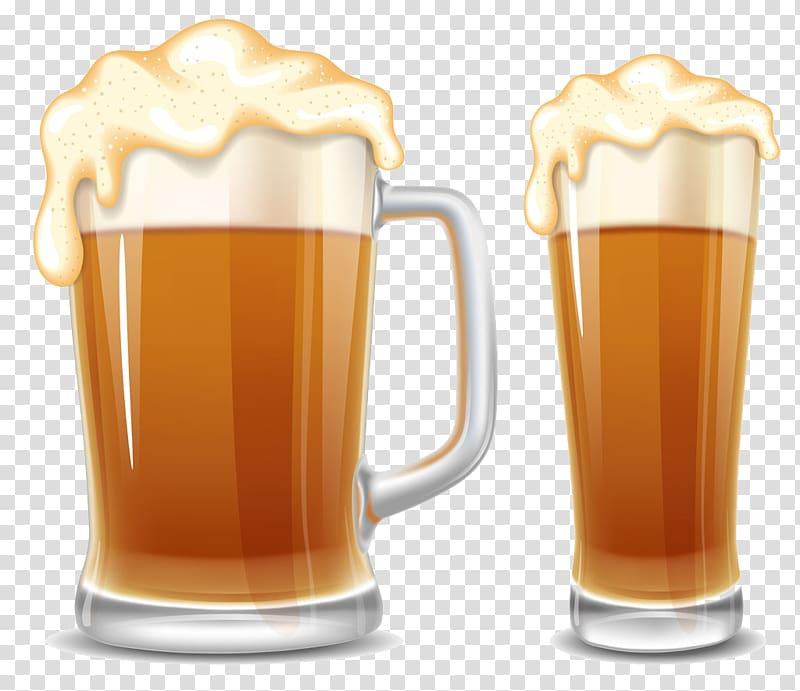 Beer Oktoberfest Cup Cartoon, Two glasses of wine.