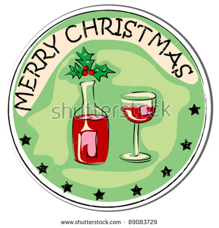 Christmas Wine Glass Stock Vectors & Vector Clip Art.