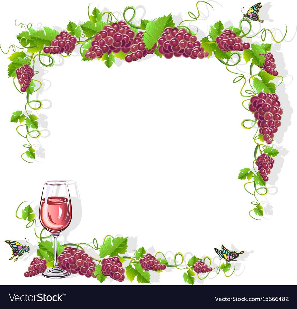 Wine frame free.