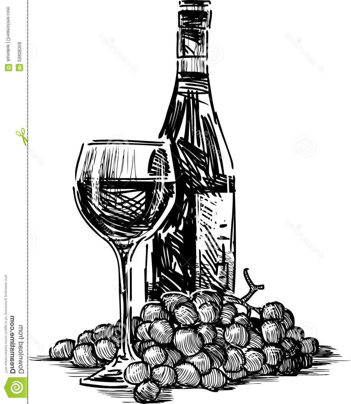 Best HD Grapes Wine Bottle Vector Cdr » Free Vector Art.
