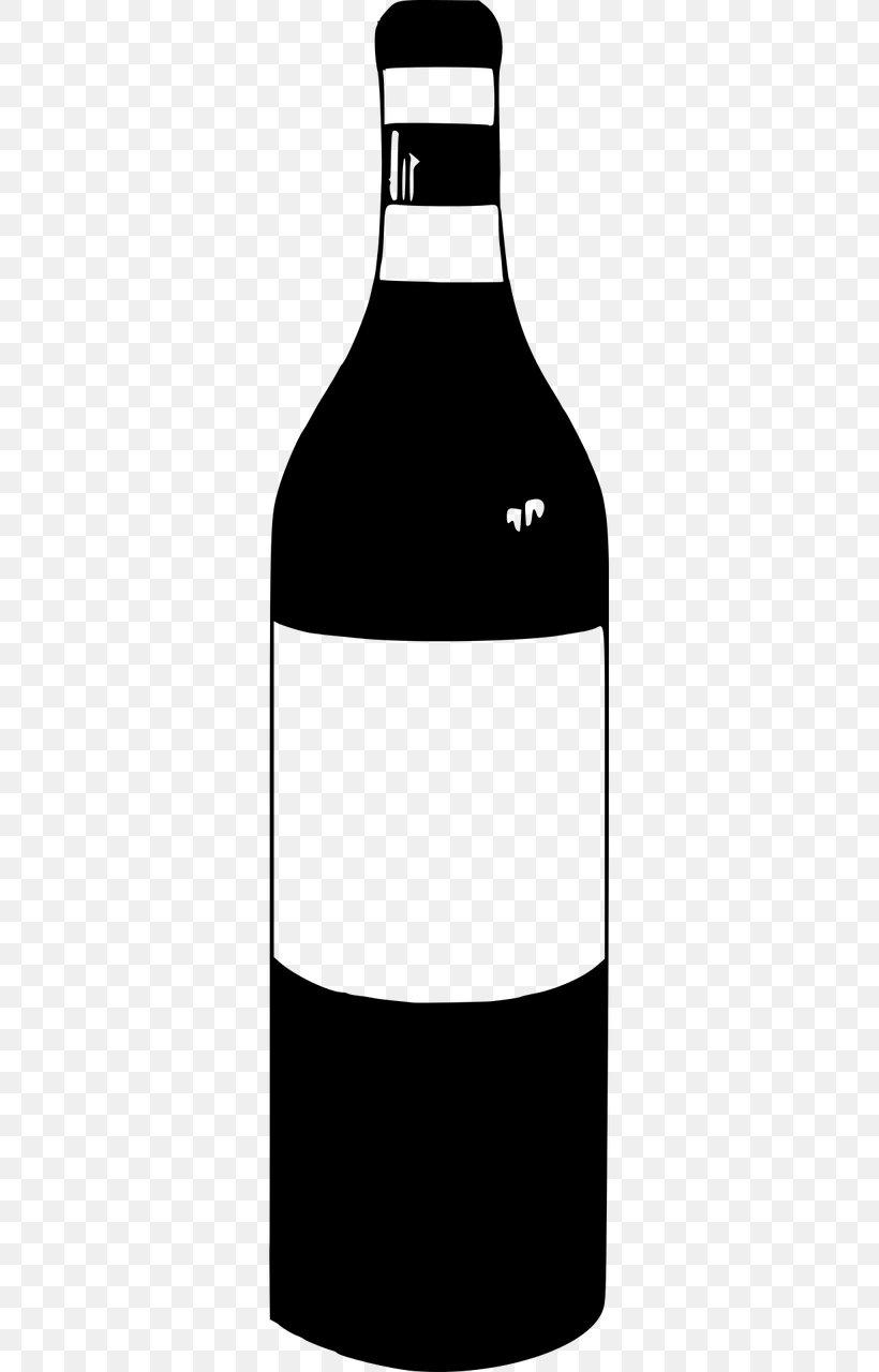 Bottle Wine Clip Art, PNG, 640x1280px, Bottle, Black And.