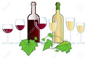 Wine Glass Border Clipart.