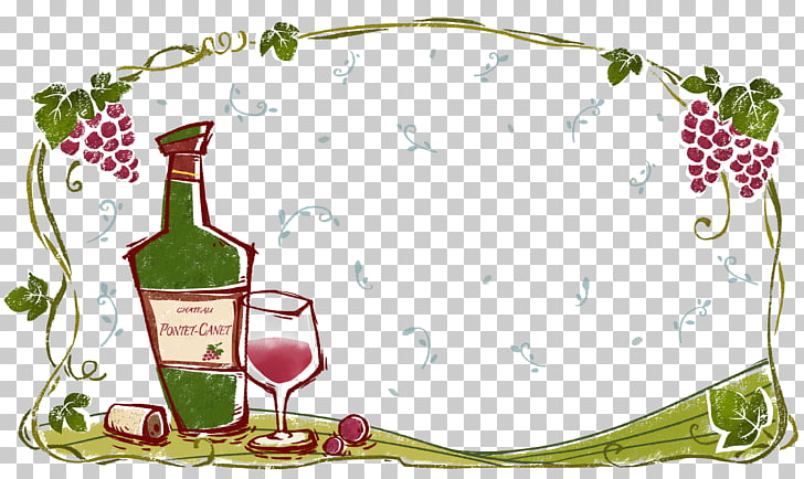 375 wine Border PNG cliparts for free download.