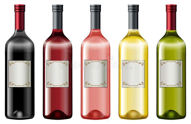 Wine Bottles Clip Art Stock Illustrations.