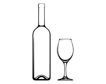 Wine bottle clip art.