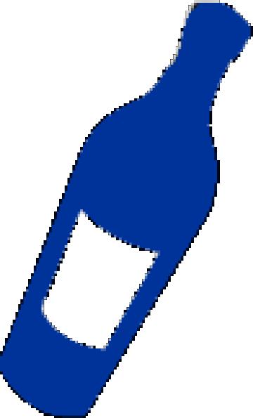Blue Wine Bottle Clip Art at Clker.com.