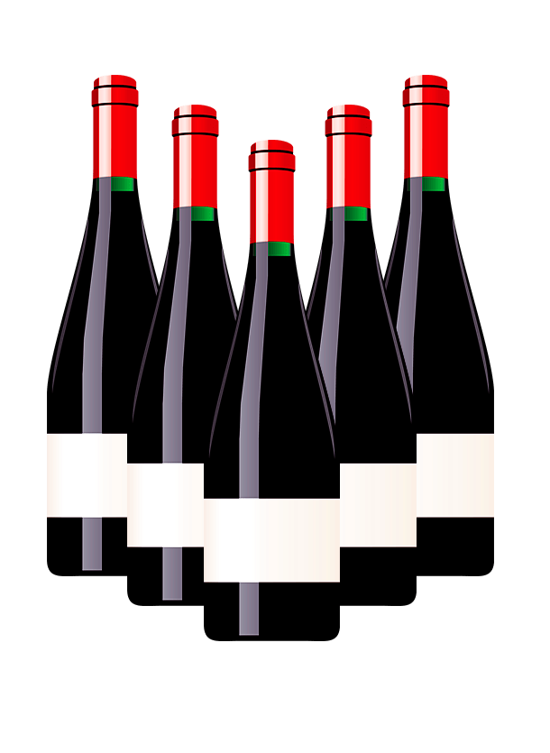 Wine Bottles Clipart transparent PNG.